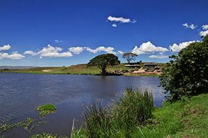 Lac Africain entre le Kenya et la Tanzanie