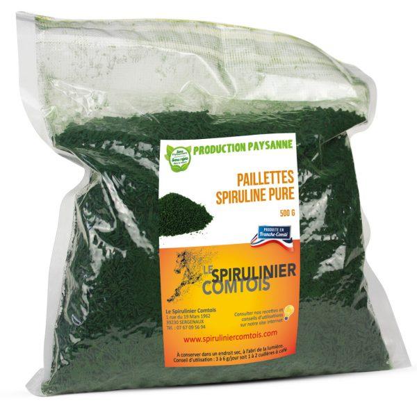 Sachet de 500 grammes de spiruline sous-vide